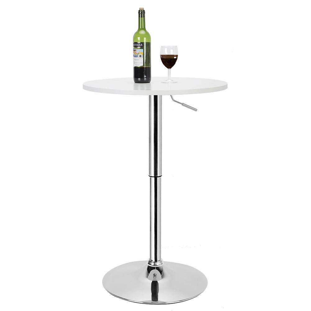 EBTOOLS Mesa de Bar Alta Blanca Regulable, Alturas Ajustables 90 ...