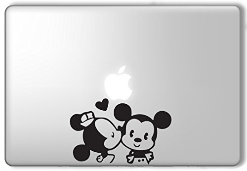 Minnie Kissing Mickey Disney - Apple Macbook Laptop Vinyl Sticker Decal