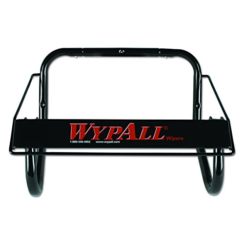 Wall Mounted Dispenser for Wypall and Kimtech Wipes (80579), Jumbo Roll, Black Wypall Jumbo Roll Dispenser
