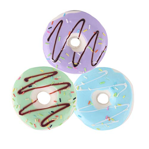 DREAMT Donut Squishies Slow Rising, Kawaii Cake Squeeze Toys Party Decoration Funny Gift for Kids and Adults, 3Pcs (A)