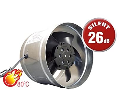 Ventilador Extractor En Línea metal tamaño 125 mm conducto de chimenea de ventilación ventilador comercial Industrial