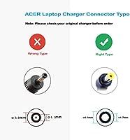FSKE® 45W 19V 2.37A Cargador Portátil para Acer Aspire E15 ZG5 E5-571 ES1 E1-572 R3 E5-551 E5 KAV60 Serie AC Adapter, Notebook EUR Power Supply, 5.5 * ...