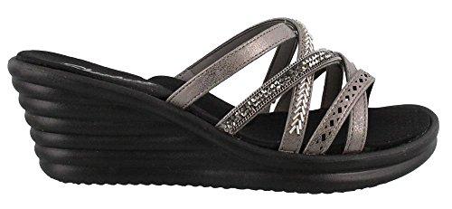 Skechers Women's 31777 Open Toe Sandals Pewter