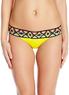 product image for Sauvage Women's Tribal Banded Yellow Woven Bottom