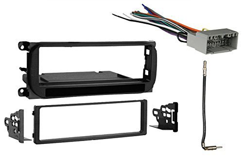 Radio Stereo Install Dash Kit + wire harness + antenna adapter for Jeep Grand Cherokee (02-04), Liberty (02-07), Wrangler (03-06)