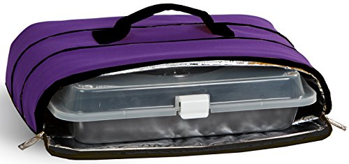 Casserole Carrier in Purple (Insulated Cake Pan Carrier compare prices)