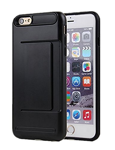 iPhone 5S Case, Asstar Wallet case Card Slot [Anti Scratch] Dual Layer Shockproof [Soft TPU] & Hybrid Hard PC Back Cover Armor for Apple iPhone SE 5S 5 (Black) (Speck Iphone 5s Camo Case)