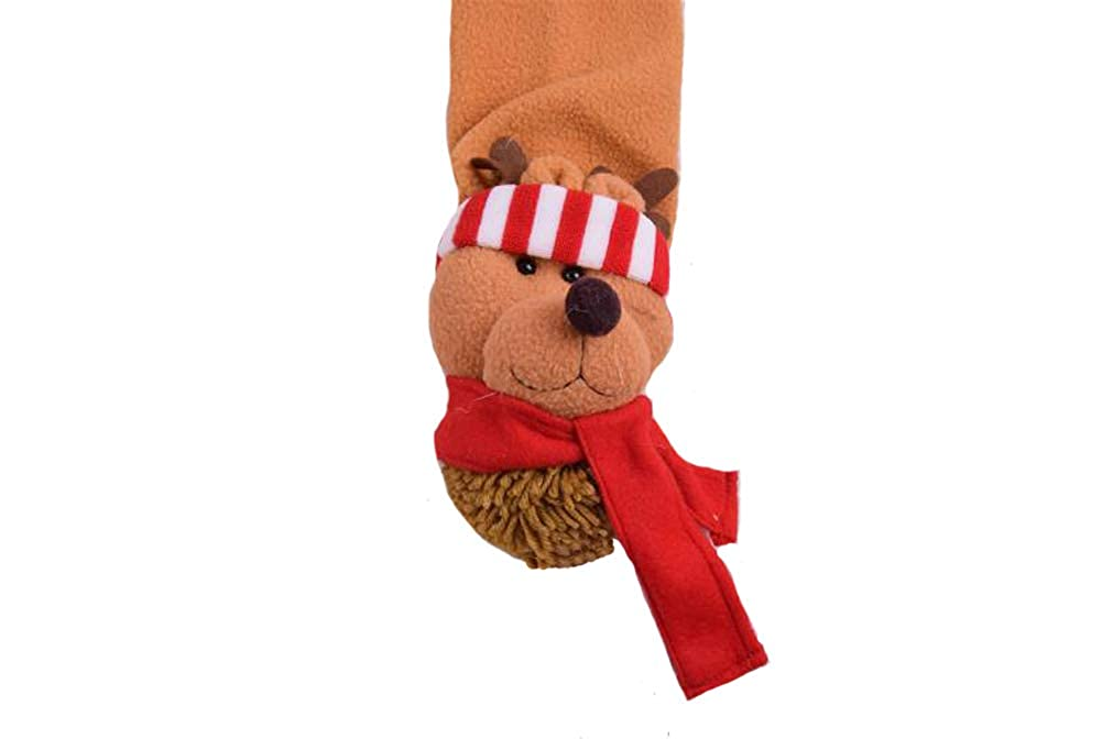 Zaptex Christmas Scarf Winter Warm Plush Scarf Girls Women Holiday Decorations