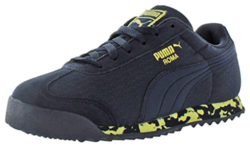 PUMA Kids' Roma MS Print Inf-K, Peacoat/Limelight, 5 M US Toddler by PUMA