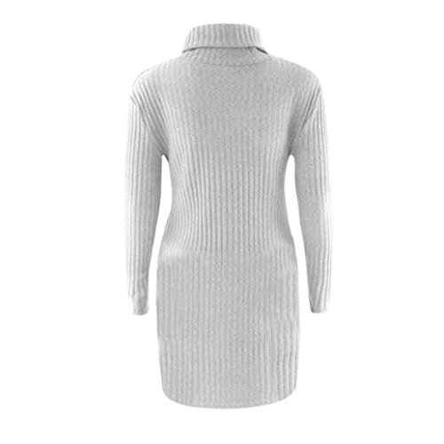Muangan Womens Casual Long Sleeve Jumper Turtleneck Sweaters Coat Blouse lovely