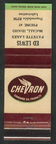 Chevron Standard Oil Ed Lewis Payette Lakes McCall ID matchcover