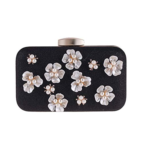Quadrata Flower Mini Small colore Clutch Con Cute Blue Da Pearl Donna Black Crossbody Bridge Shopping Borsa Diamanti Tasca Black Piccola Sera 6w1YOq