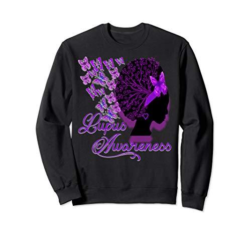 Lupus awareness Butterfly ribbons. Sweatshirt