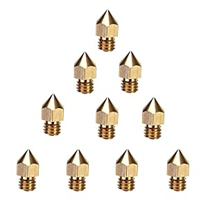 Creality 3D Printer Extruder Nozzle 10PCS 0.4mm MK8 for Makerbot Anet A8 Creality CR-10 CR-10S S4 S5 Ender-3 by Creality 3D