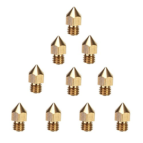 Creality 3D Printer Extruder Nozzle 10PCS 0.4mm MK8 for Makerbot Anet A8 Creality CR-10 CR-10S S4 S5 Ender-3