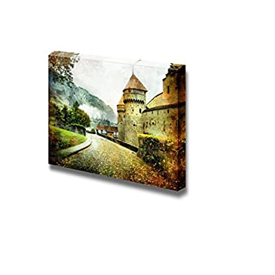 Canvas Prints Wall Art - Swiss Castle - Artistic Picture - 12
