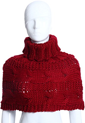 Free Pullover (BODY STRENTH Woman Sweater Ponchos Knitted Warm Wraps For Women Wine Short Poncho Sweater)