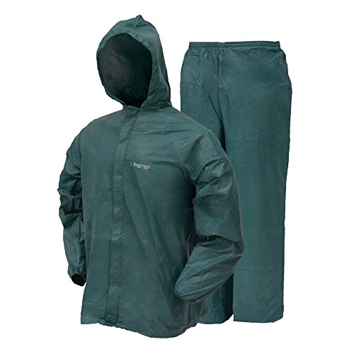 Frogg Toggs Men's Ultra Lite Rain Suit, Green, Large