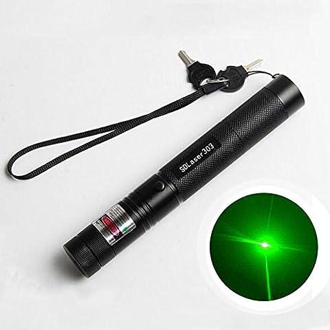 High Power Laser pointer /Red/Green Beam Laser Flashlight Lazer Projector Flashlight (BLACK) (High Power Burning Laser Pointer)