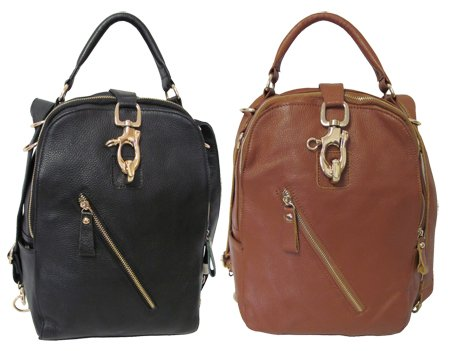 Amerileather Quince Leather Handbag/Backpack (#1511-0)