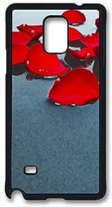 Flower Petal Art Case Cover for Samsung Galaxy Note 4, Note 4 Case, Galaxy Note 4 PC Black Case Cover