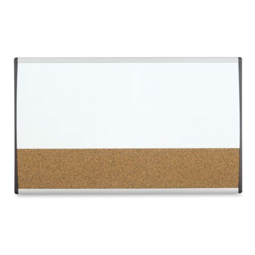 "Quartet Arc Cubicle Combination Board, 30"" x 18"", Whiteboard"