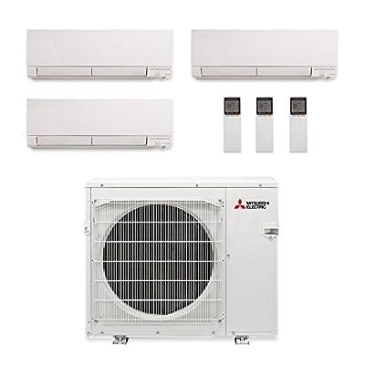 Mitsubishi MXZ-4C36NAHZ-3WF-07 - 36,000 BTU Tri-Zone Hyper Heat Wall Mount Mini Split Air Conditioner 208-230V (12-12-15)