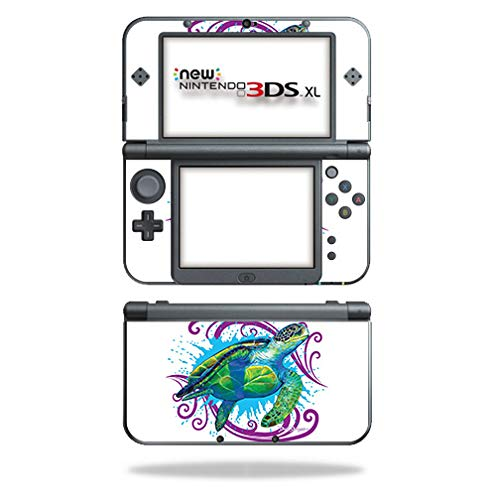 MightySkins Skin Compatible with Nintendo New 3DS XL (2015) - Sea Turtle Splash | Protective, Durable, and Unique Vinyl Decal wrap Cover | Easy to Apply, Remove, and Change Styles | Made in The USA (Nintendo 3ds Backpack Xl)