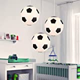 Chandelier Light Shades Ceiling Crystals - D03 Creative Children's Room Soccer Chandeliers Living Room Restaurant Chandeliers (Size : 3-head)