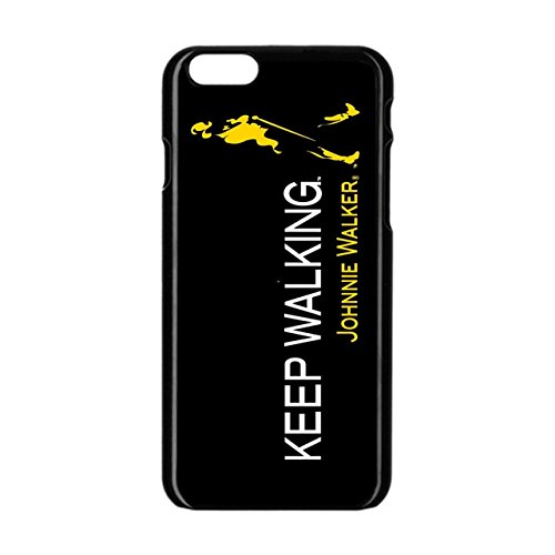 Snap Johnnie Walker Apple iPhone 6/6S Black Enamel Case (Black Walker Snap)