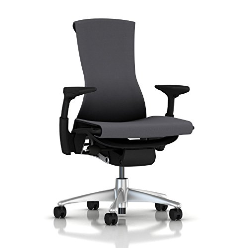 Herman Miller Embody Chair: Fully Adj Arms - Graphite Frame/