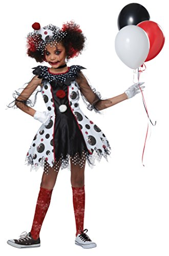 Creepy Clown Girl Costume - Child Size X-Large