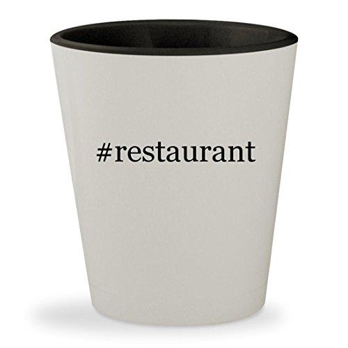 Restaurant   Hashtag White Outer   Black Inner Ceramic 1 5Oz Shot Glass