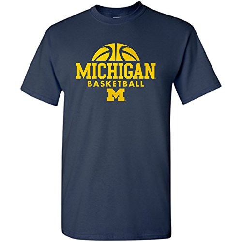 Michigan Wolverines Basketball Hype Mens T-Shirt - X-Large - Navy ()