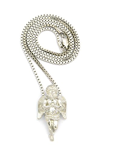 Silver Praying Pendant Necklace MMP3R BX