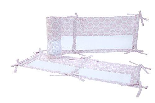 Carter's Zoo Jungle/Safari 4 Piece Secure-Me Crib Liner, Floral/Lavender/White - Zoo Crib Bedding Collection