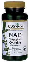 Nac N-Acetyl Cysteine 600 mg 100 Caps (Pack of 3)