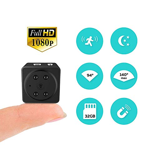I Spy Camera – Hidden Camera – Compact Mini Spy Camera ? Nanny Cam – Night Vision Camera with Motion Detector