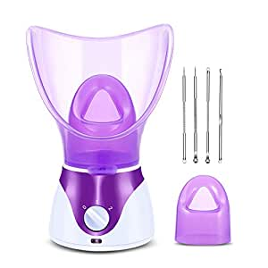 Zenpy Nano Ionic Facial Steamer Hot Mist Face Steamer Home Sauna SPA Face Humidifier Atomizer for Women Men Moisturizing Cleansing Pores with Blackhead Remover Kit
