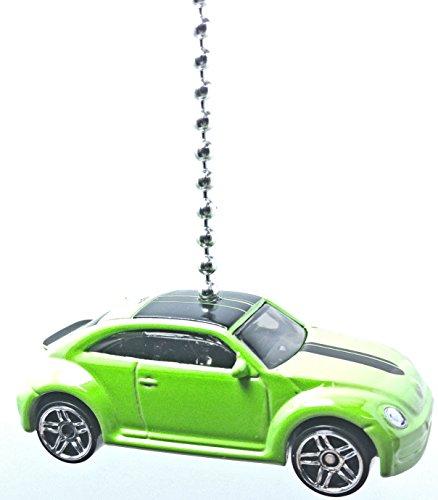 hot-wheels-car-truck-ceiling-fan-pull-beaded-chain-volkswagen-new-beetle-green-