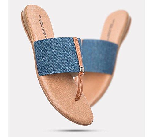 Flat André Assous Women's Denim Sandal Nice vxp7ngR