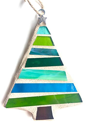 GREEN Christmas Ornament, Mosaic Ornament for Christmas Tree-Green (Tree Christmas Mosaic)