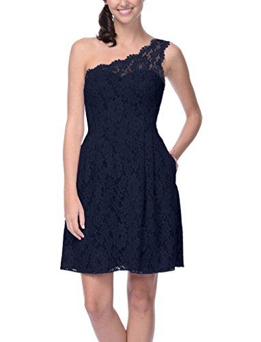 Ssyiz Mujer Elegante Encaje de Flores Vestido de Fiesta(Privado Personalizado) 2S6799-Azul Oscuro