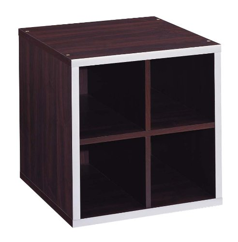 Organize It All 4 Section MDF Stackable Storage (Cube Quadrant Collection)