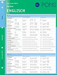 PONS Verben auf einen Blick Englisch: kompakte Übersicht, Verbformen und Konjugationen nachschlagen