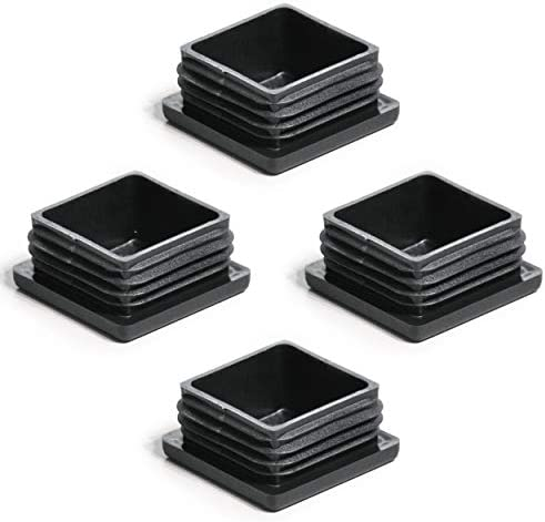 10 Lamellenstopfen Schwarz 35x35mm Wandstärke 0,8 bis 3,0mm Endkappe Abdeckkappe