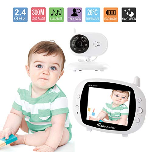 Acecharming Video Baby Monitor with Camera 3.5 inch LCD Scre