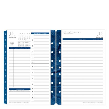 - Classic Monticello Daily Ring-Bound Planner - Jan 2019 - Dec 2019