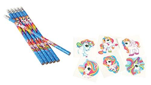 156 Piece Unicorn Theme Party Favor Set /