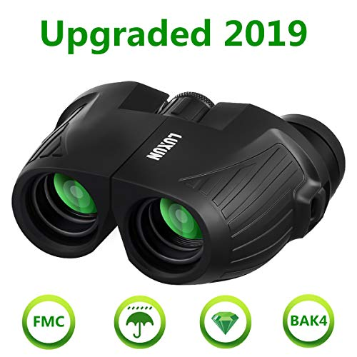 12×25 Compact Binoculars-SGODDE Pocket Folding Binoculars with Low Light Night Vision High Powered Waterproof HD Professional Binocular for Outdoor Hunting, Bird Watching,Concert for Adults Kids